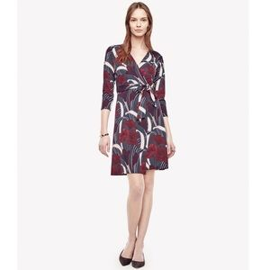 NWT Ann Taylor Floral 3/4 Sleeve Wrap Dress 2